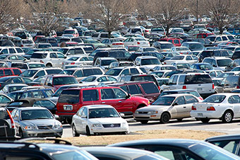 Crowded Parking Lots