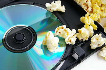 DVD Moive and Popcorn