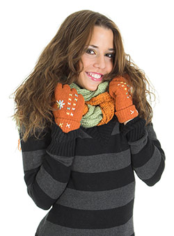 Teacher Gift Idea - A Scarf and Gloves or Other Clothing