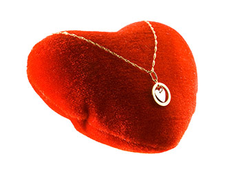 Typical Heart Shaped Valentines Day Jewelry