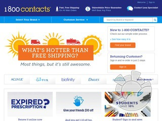 1 800 Contacts Coupons