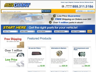 Auto Parts Giant Coupons