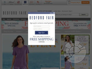 Bedford Fair Coupons