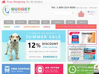 BudgetPetWorld.com Coupons