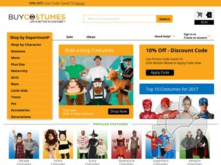 Buy Costumes Coupons