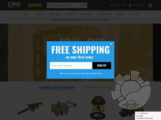 CPO Dewalt Outlet Store Coupons