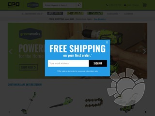 CPO Greenworks Coupons