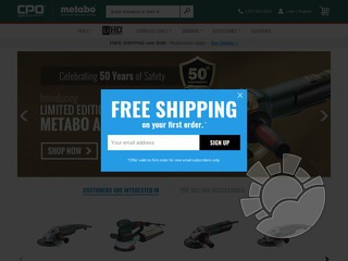 CPO Metabo Coupons