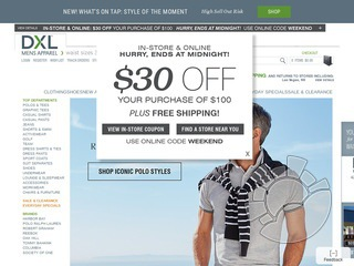 DXL Destination XL Coupons