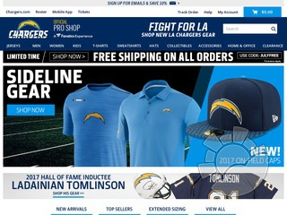 Los Angeles Chargers Shop Coupons