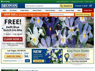 Michigan Bulb Company Coupons