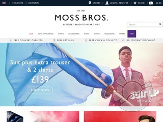 Moss Bros UK Coupons