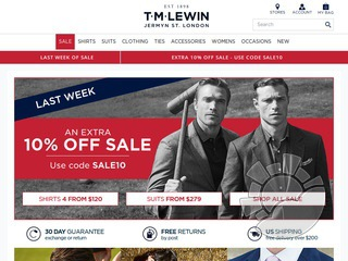 T.M. Lewin Coupons